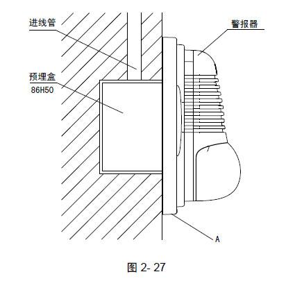 警报器接线端子示意图如图2